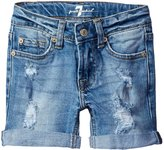 7 For All Mankind 4 Roll Cuff Short - Blue - 4T