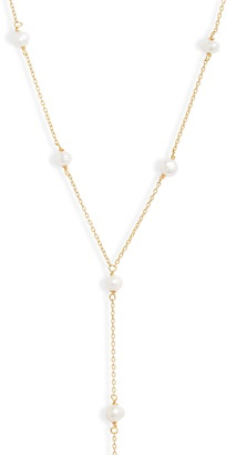 Adina's Jewels Mini Imitation Pearl Y-Necklace