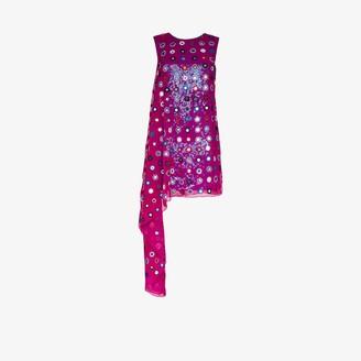 Ashish Embellished Asymmetric Mini Dress