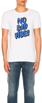 Scotch & Soda No Bad Vibes Tee in White. - size L (also in M,S)