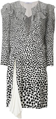 Givenchy Leopard Print Split Neck Dress