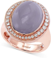 Effy Chalcedony (8-1/2 ct. t.w.) and Diamond (1/3 ct. t.w.) Ring in 14k Rose Gold