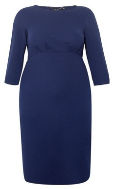 Dorothy Perkins Womens Dp Curve Navy Empire Waist Pencil Dress