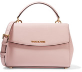 MICHAEL Michael Kors Ava Small Textured-leather Shoulder Bag - Pink