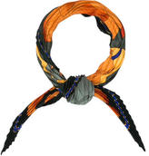 Hermes Fleurs De Lotus Silk Plissé Scarf