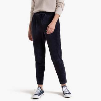 Only Straight Pleated Trousers with Elasticated Waist