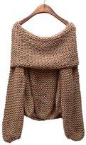 Vogholic Women's Boat Neck Off Shoulder Knit Sweater Pullover Tops