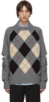 Burberry Grey Melange Foxton Argyle Sweatshirt