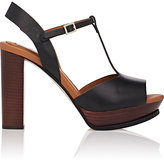 See by Chloe WOMEN'S LEATHER T-STRAP PLATFORM SANDALS