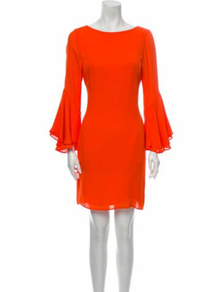 HANEY Scoop Neck Mini Dress Orange