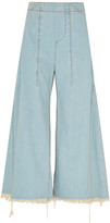 Chloé Distressed mid-rise wide-leg jeans