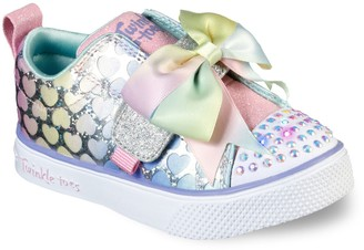 Skechers Twinkle Toes Twinkle Breeze 2.0 Hearts Glitz Toddler Girls' Light Up Shoes