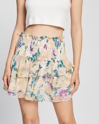 Shona Joy Donatella Shirred Ra Ra Skirt