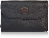Bric's Magellano Black Tri-fold Traveler Toiletry Case