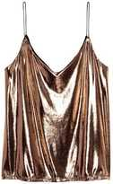 H&M V-neck Camisole Top - Silver-colored - Ladies