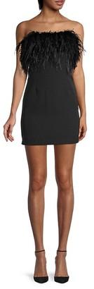 Bardot Straight-Across Mini Dress
