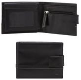 Jeff Banks Black Leather Embossed Logo Wallet