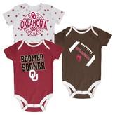 NCAA Oklahoma Sooners Newborn 3-Pack Bodysuit Set