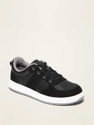 Old Navy Nylon/Faux-Suede Elastic-Lace Sneakers for Boys