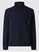 Blue Harbour Textured Zipped Through Fleece Top
