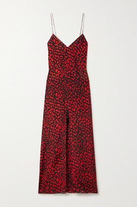 Alice + Olivia Candice Leopard-print Silk Maxi Dress
