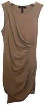 BCBGMAXAZRIA Beige Cotton - elasthane Dress for Women