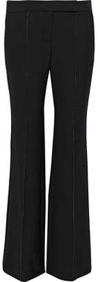 Amanda Wakeley Crochet-trimmed Cady Flared Pants