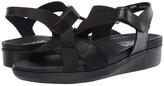 Munro American Andie (Black Leather) Women's Sandals