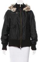 Versace Fur-Trimmed Hooded Jacket