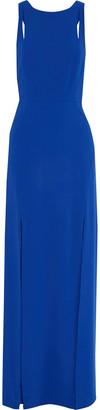 Halston Cutout Stretch-crepe Gown