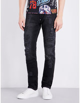 Philipp Plein Distressed Star Detail Skinny-fit Mid-rise Jeans