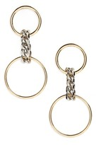 BP Women's Chain Double Hoop Earrings