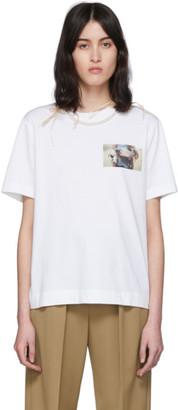 Simone Rocha White Lamb Print Pearl T-Shirt