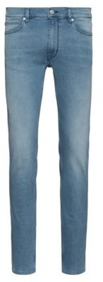 HUGO Extra Slim-fit jeans in bright-blue jersey denim
