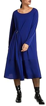 Marina Rinaldi Ombra Mixed Media Dress