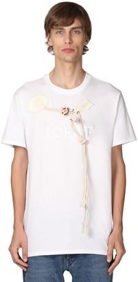Loewe Logo Embroidered Cotton Jersey T-Shirt