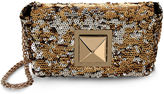 Sonia Rykiel Gold & Silver Sequin Le Copain Shoulder Bag