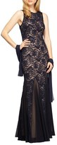 Alex Evenings Sequin Lace Mermaid Gown & Shawl (Regular & Petite)