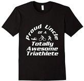 Men's Triathlete Supporter Uncle Triathlon Run Swim Cycle Niece Medium