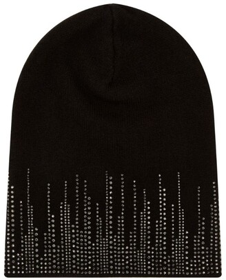 William Sharp Crystal-embellished Cashmere Beanie Hat