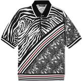 Dolce & Gabbana - Intarsia Knitted Silk Polo Shirt