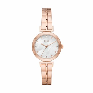Elle Odeon Three-Hand Rose Gold-Tone Stainless Steel Watch