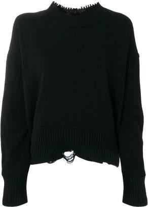 Helmut Lang grunge crew sweater