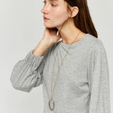 Warehouse Circle twisted inlay necklace