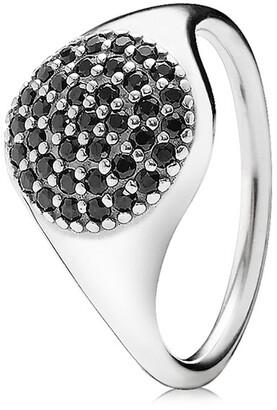 Pandora Large Silver Pave Crystal Ring