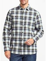 John Lewis Ombre Check Shirt, Blue