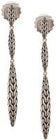 John Hardy Sterling silver Classic Chain Spear Linear earrings