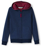 Lands' End Boys Husky Waffle Lined Hoodie-Regiment Navy