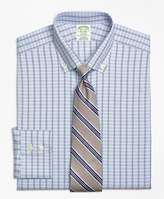 Brooks Brothers Non-Iron Milano Fit Alternating Framed Tattersall Dress Shirt