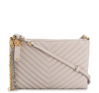 Pinko Chevron Quilted Clutch Bag